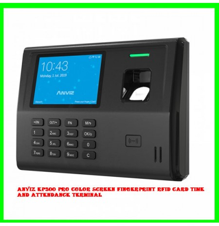 Anviz EP300 Pro Color Screen Fingerprint RFID card Time and Attendance Terminal