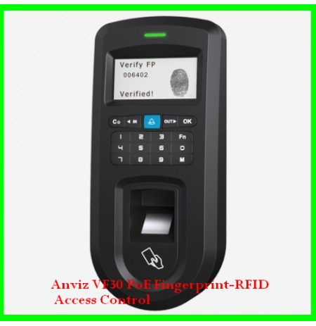 Anviz VF30 PoE Fingerprint-RFID Access Control