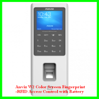 Anviz W2 Color Screen Fingerprint-RFID Access Control with Battery