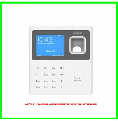 ANVIZ W1 Pro Color Screen Biometric RFID Time Attendance