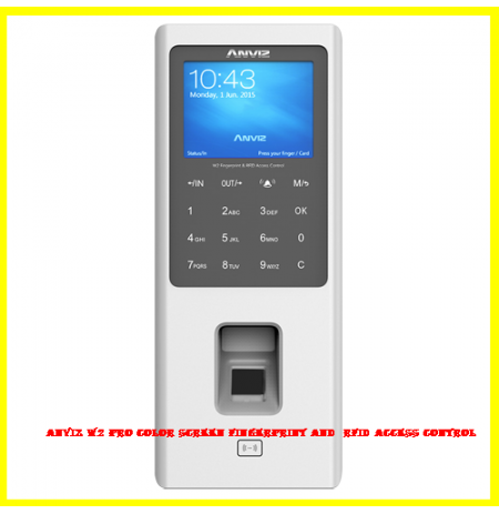 Anviz W2 Pro Color Screen Fingerprint and  RFID Access Control