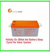 Felicity 12v 200ah Gel Battery Deep Cycle For Solar System
