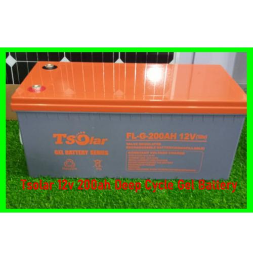 Tsolar 12v 200ah Deep Cycle Gel Battery