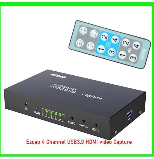 Ezcap 4 Channel USB3.0 HDMI video Capture-08030739425