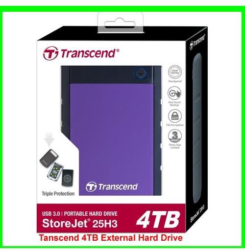 Transcend 4TB External Hard Drive-08030739425