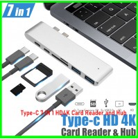Type-C 7 IN 1 HD4K Card Reader and Hub
