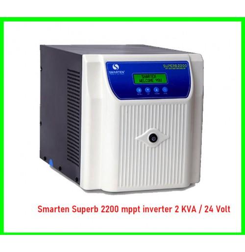 Smarten Superb 2200 mppt inverter 2 KVA / 24 Volt