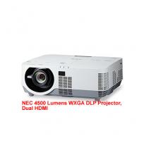 NEC 4500 Lumens WXGA DLP Projector, Dual HDMI