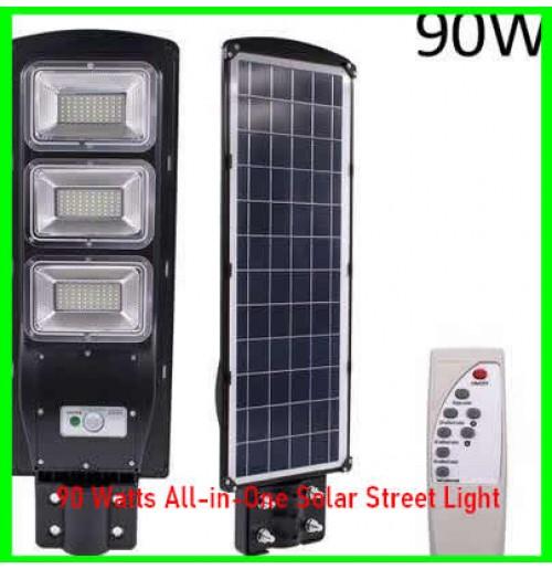 90 Watts All-in-One Solar Street Light