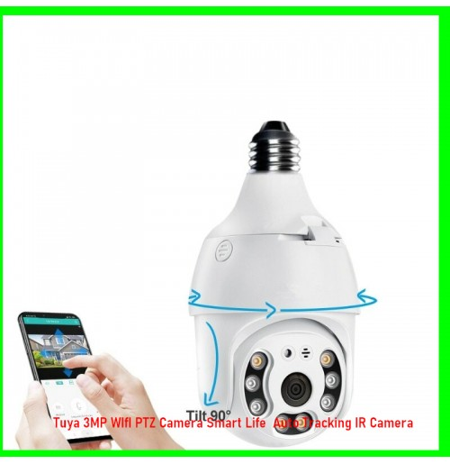Tuya 3MP WIfI PTZ Camera Smart Life  Auto Tracking IR Camera
