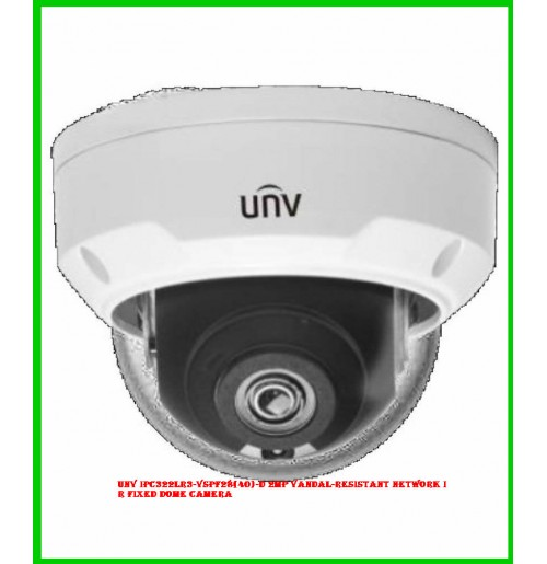 UNV IPC322LR3-VSPF28(40)-D 2MP Vandal-resistant Network IR Fixed Dome Camera
