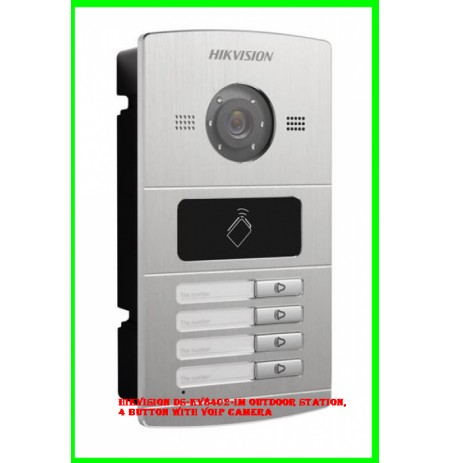 Hikvision DS-KV8402-IM outdoor station, 4 button with VoIP camera