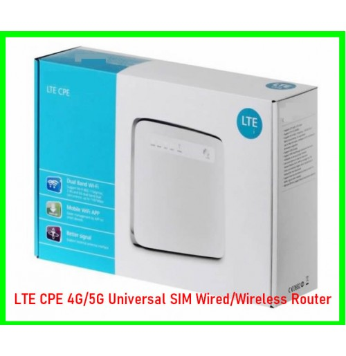 LTE CPE 4G/5G Universal SIM Wired/Wireless Router