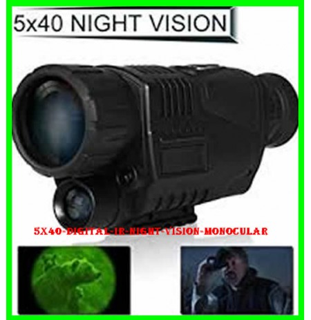 5X40 Digital IR Night Vision Monocular