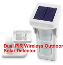 Dual PIR Wireless Outdoor Solar Detector