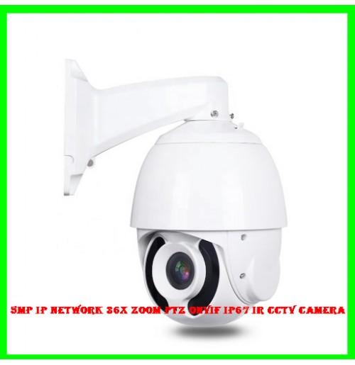 5MP IP Network 36x Zoom PTZ Onvif IP67 IR CCTV Camera