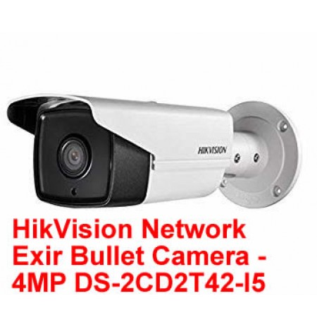 HikVision Network Exir Bullet Camera - 4MP DS-2CD2T42-I5