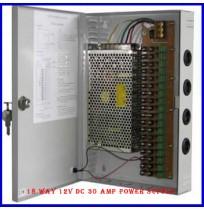 18 Way 12V DC 30 Amp Power Supply