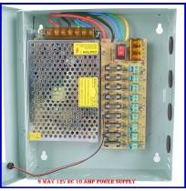 9 Way 12V DC 10 Amp Power Supply