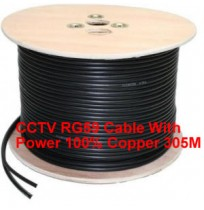 CCTV RG59 Cable With Power 100% Copper 305M