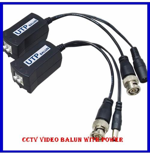 CCTV Video Balun with Power