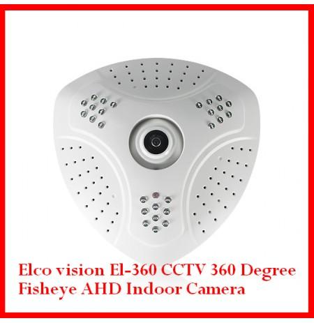Elco vision El-360 CCTV 360 Degree Fisheye AHD Indoor Camera