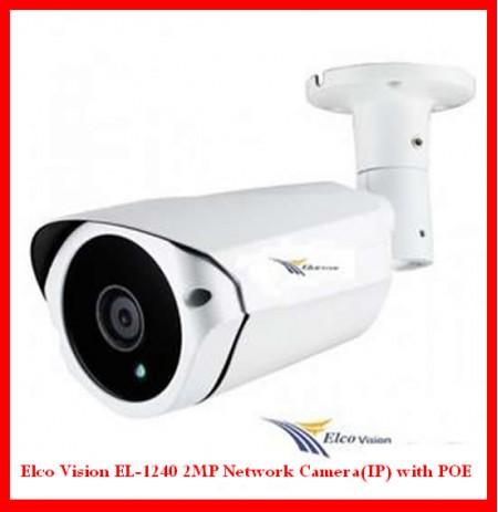 Elco Vision EL-1240 2MP Network Camera(IP) with POE