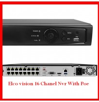 Elco vision 16 Channel Nvr With Poe
