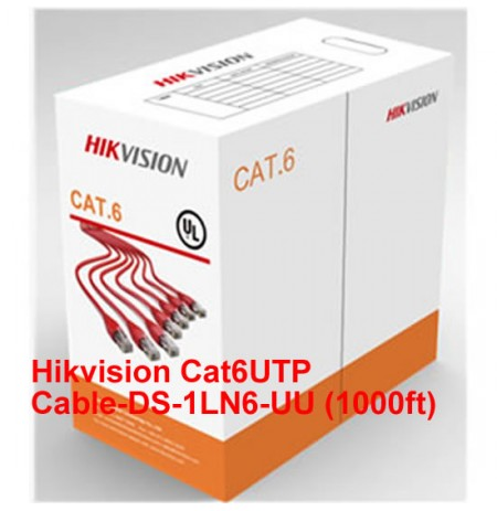 Hikvision Cat6 UTP Cable-DS-1LN6-UU-1000ft