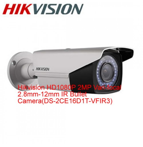 Hikvision HD1080P 2MP Varifocal Bullet Camera-DS-2CE16D1T-VFIR3