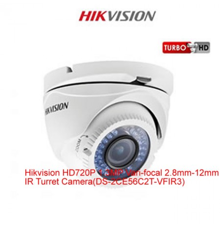 Hikvision HD720P 1.3MP Varifocal  Camera-DS-2CE56C2T-VFIR3