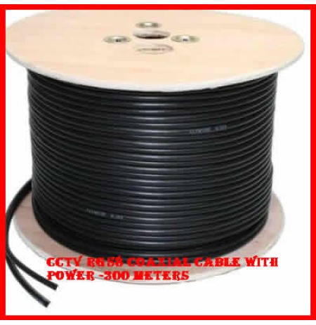 CCTV RG58 Coaxial Cable With 2 Core Power Cable -300 meters