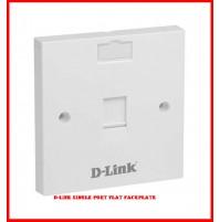 D-LINK Single Port Flat Faceplate