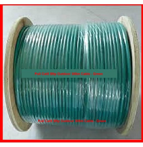 Puli Cat5 Sftp Outdoor 305m Cable - Green