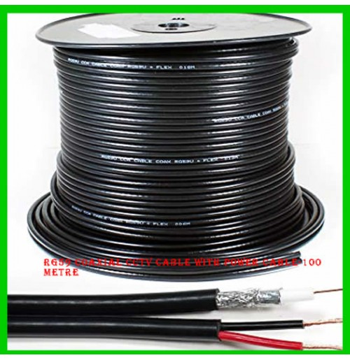 RG59 Coaxial CCTV Cable with Power Cable-100 Metre