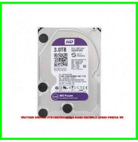 Western Digital 3TB Surveillance Hard drive 3.0 Speed Purple WD