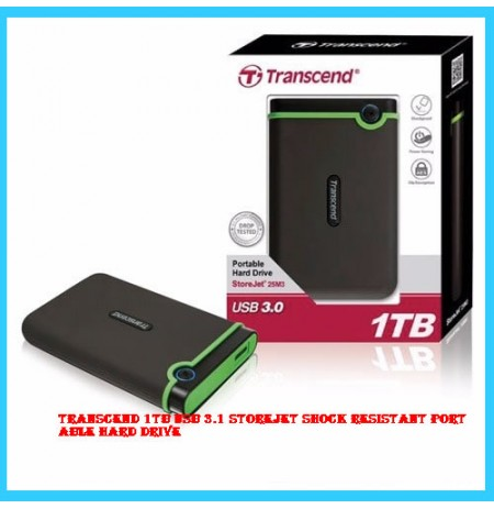 Transcend 1TB USB 3.1 Storejet Shock Resistant Portable Hard Drive