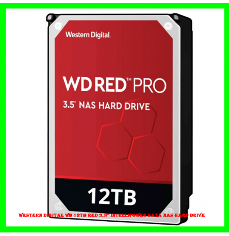 "Western Digital WD 12TB Red 3.5"" IntelliPower SATA NAS Hard Drive"