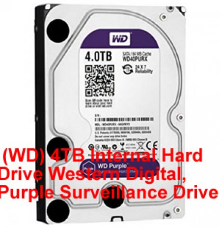 4TB Internal Hard Drive Western Digital, Purple Surveillance Drive