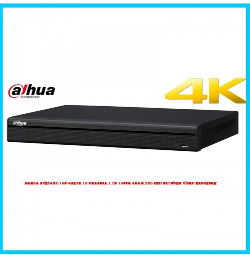 DAHUA NVR5432-16P-4KS2E 32 Channel 1.5U 16PoE 4K&H.265 Pro Network Video Recorder