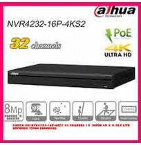 Dahua DHI-NVR4232-16P-4KS2 32 Channel 1U 16PoE 4K & H.265 Lite Network Video Recorder