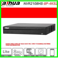 Dahua NVR2108HS-8P-4KS2 H265 PoE 1080P 8 Channels Network Video Recorder-NVR