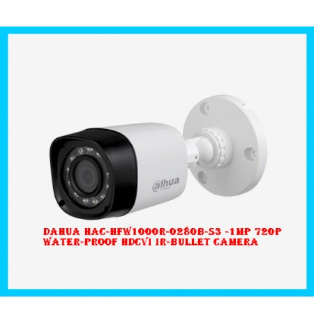 Dahua HAC-HFW1000R-0280B-S3 -1MP 720P Water-proof HDCVI IR-Bullet Camera
