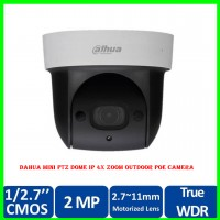 Dahua Mini PTZ Dome IP 4X Zoom Outdoor POE Camera