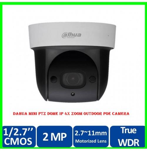 Dahua Mini PTZ Dome IP 4X Zoom Outdoor POE Camera