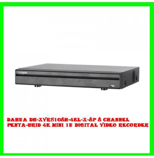 Dahua DH-XVR5108H-4KL-X-8P 8 Channel Penta-brid 4K Mini 1U Digital Video Recorder