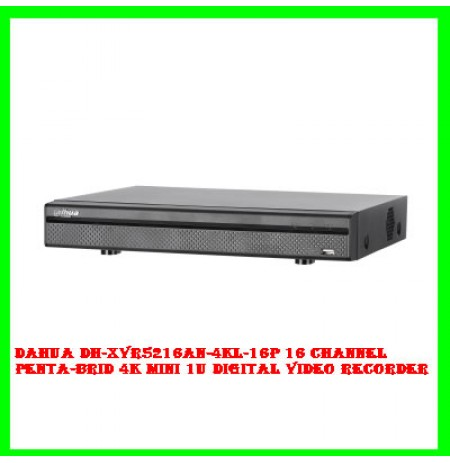 Dahua DH-XVR5216AN-4KL-16P 16 Channel Penta-brid 4K Mini 1U Digital Video Recorder