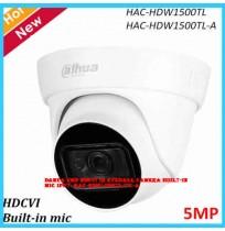 Dahua 5MP HDCVI IR Eyeball Camera Built-in MIC Smart IR 30m Waterproof IP67- HAC-HDW1500TL/TL