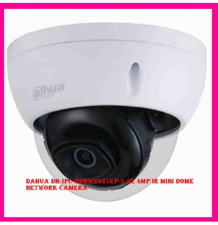 Dahua DH-IPC-HDBW2431EP-S-S2 4MP IR Mini Dome Network Camera