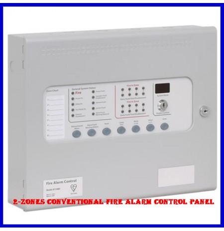 2-Zones Conventional Fire Alarm control Panel